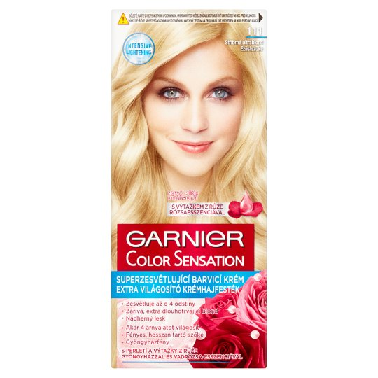 image 1 of Garnier Color Sensation 111 Silver Blonde Extra Lightening Cream Hair Colorant