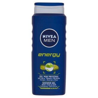 NIVEA MEN Energy tusfürdő tusoláshoz, arc- és hajmosáshoz 500 ml