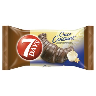 7DAYS Choco Croissant with Milk Chocolate Coating Filled with Vanilla Flavoured Filling 60 g