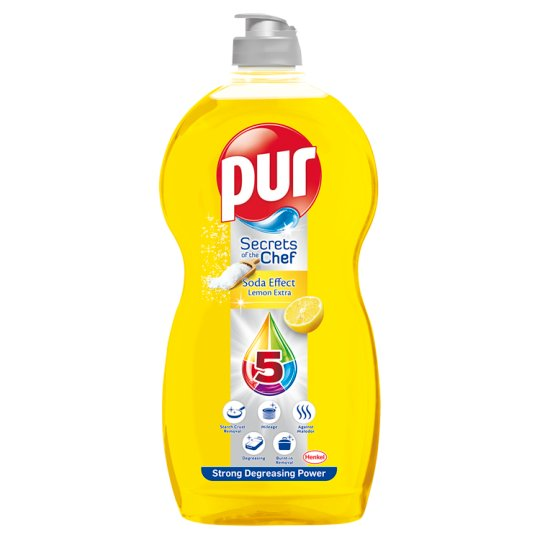 Pur Secrets of the Chef Soda Effect Lemon Extra Hand Dishwashing Liquid 1,35 l