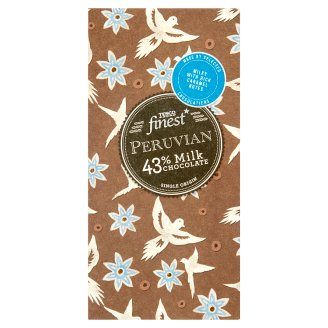 Tesco Finest Peruvian 43% Milk Chocolate 100 g