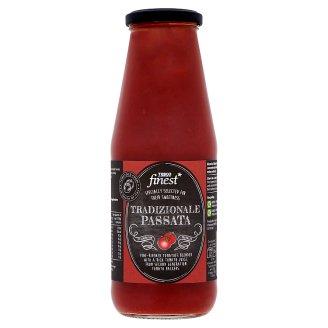 Tesco Finest aprított paradicsom paradicsomlében vöröshagymakivonattal 680 g