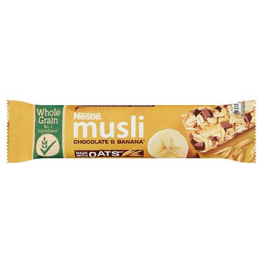 Nestlé Musli tejcsokoládés banános müzliszelet 35 g