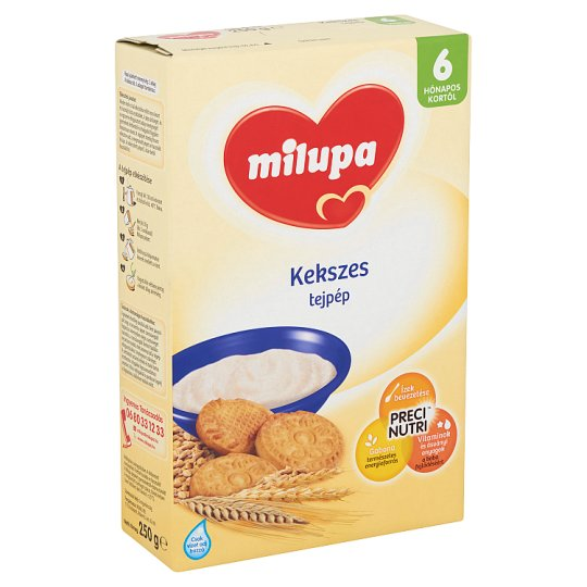 Milupa Milk Pulp with Biscuits 6+ Months 250 g
