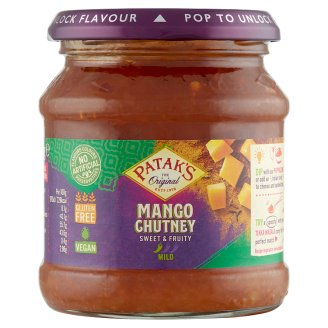 Patak's Mango Chutney Slightly Hot Mango Product with Spices 340 g