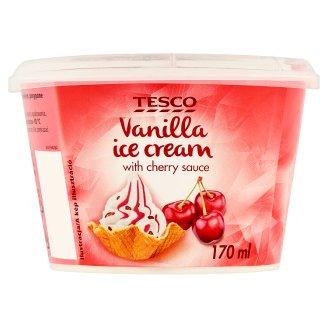 Tesco Vanilla Ice Cream with Cherry Sauce 170 ml