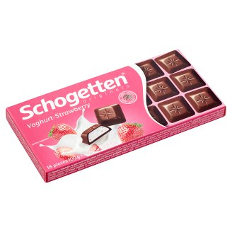 Schogetten Yoghurt-Strawberry Filled Milk Chocolate 100 g