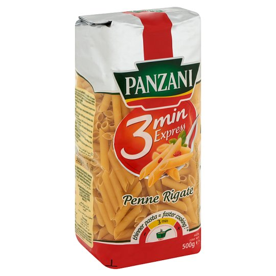 Panzani 3 Min Express Penne Rigate Durum Wheat Semolina Pasta 500 g