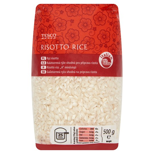 """Tesco """"A"""" Quality Risotto Rice 500 g"""