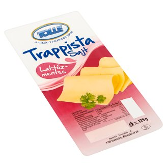 Tolle Lactose-Free Sliced Fat, Semi-Hard Trappist Cheese 125 g