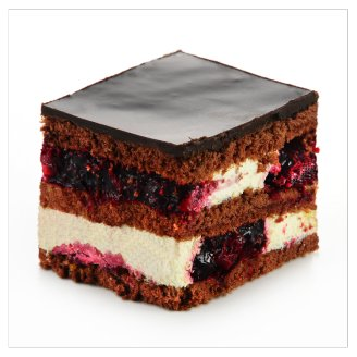 Sour Cherry Cake Slice