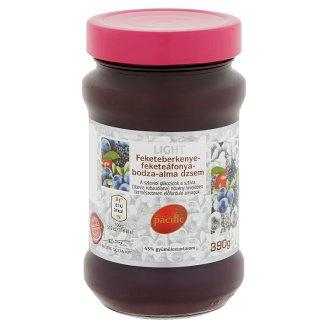 Pacific Light feketeberkenye-feketeáfonya-bodza-alma dzsem cukorral és édesítőszerrel 390 g