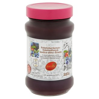 Pacific Light Black Chokeberry-Blueberry-Elder-Apple Jam with Sugar and Sweetener 390 g