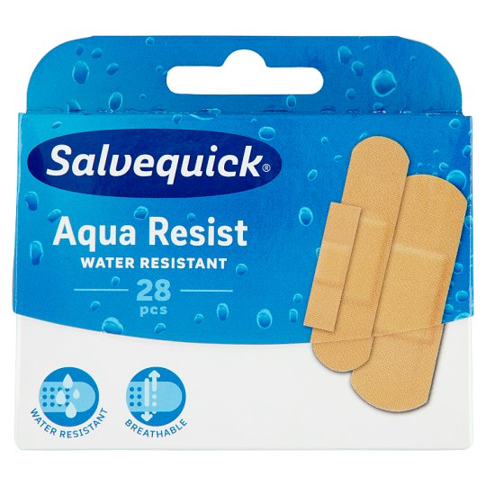Salvequick Aqua Resist Water and Dirt-Resistant Plaster 28 pcs