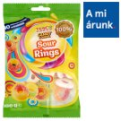 Tesco Candy Carnival Sour Rings Fruit Flavoured Gummy Sweets with Sour Sugary Frosting 100 g