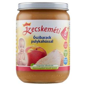Kecskeméti glutén- és tejszármazékmentes őszibarack pulykahússal bébiétel 5 hónapos kortól 190 g