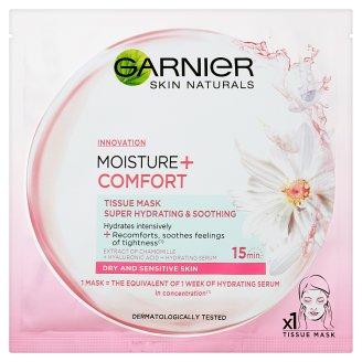Garnier Skin Naturals Moisture + Comfort szuper hidratáló, bőrnyugtató textil maszk 32 g