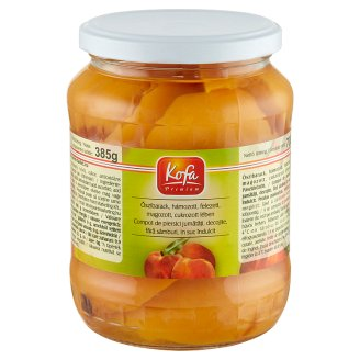Kofa Premium Peeled Halved Pitted Peach in Syrup 700 g