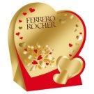 Ferrero Rocher Szív tejcsokoládéval és mogyoródarabkákkal borított ostya mogyorós töltelékkel 50 g