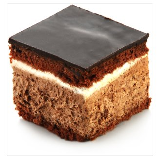 Chocolate Sponge Cake Slice with Chocolate Mousse Filling