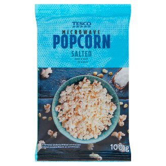Tesco Salted Microwave Popcorn 100 g