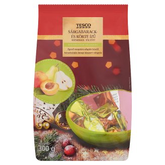 Tesco Milk Chocolate Christmas Candy Collection Filled with Apricot and Pear Flavoured Creams 300 g