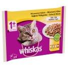 Whiskas 1+ Vegyes Válogatás teljes értékű nedves eledel felnőtt macskáknak aszpikban 4 x 100 g