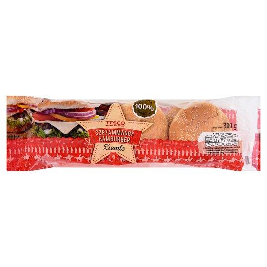 Tesco szezámmagos hamburger zsemle 6 db 300 g