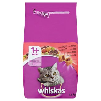 Whiskas Complete Pet Food for Adult Cats with Beef 1,4 kg