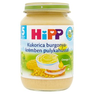 HiPP Organic Gluten- and Dairy-Free Corn in Potato Puree with Turkey for Babies 5+ Months 190 g