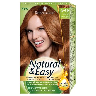 Schwarzkopf Natural & Easy 546 Terracotta Medium Copper Blond Permanent Hair Colorant