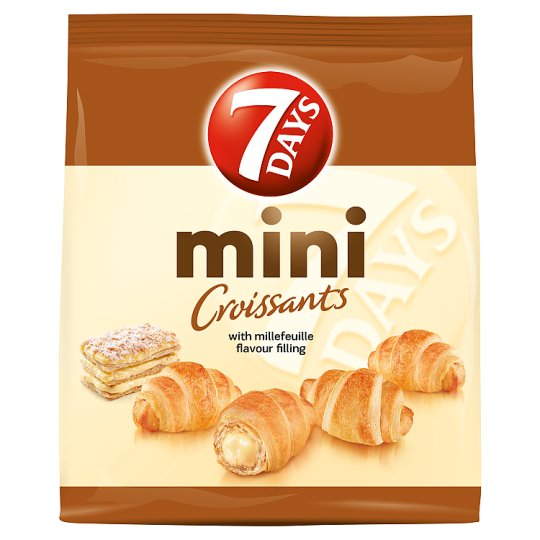 7DAYS Mini Croissants with Millefeuille Flavour Filling 200 g