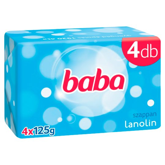 Baba Soap with Lanoline 4 x 125 g