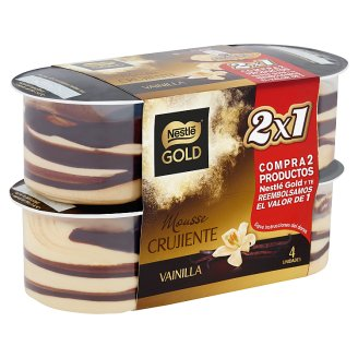 Nestlé Gold vaníliás tejhab kakaós réteggel cukorral és édesítőszerekkel 4 x 57 g