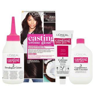 image 2 of L'Oréal Paris Casting Crème Gloss 200 Ebony Black Care Hair Colorant