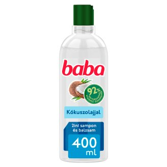 Baba 2in1 Shampoo and Conditioner for Dry and Damaged Hair with Coconut Oil 400 ml