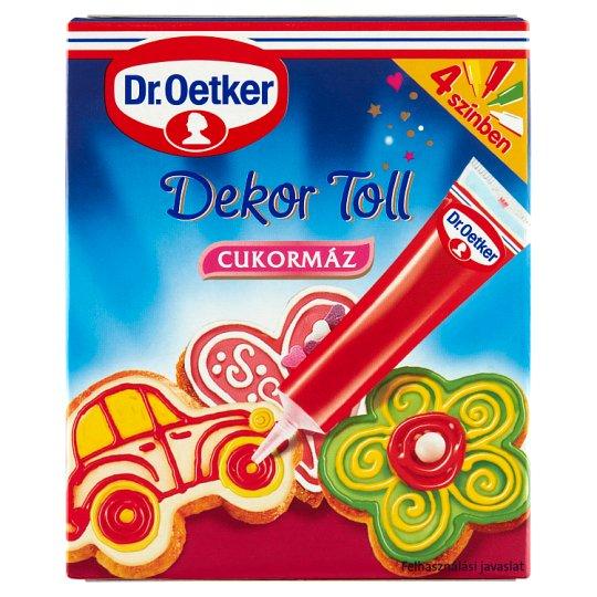 Dr. Oetker Decor Pen Icing Sugar in 4 Color 4 pcs 76 g