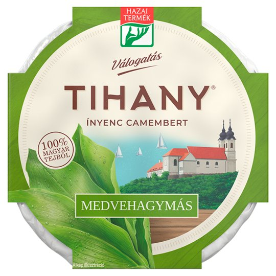 Tihany Válogatás Ínyenc Camembert Fat Soft Cheese with Ramsons 125 g