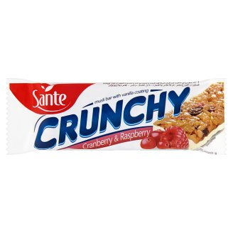 Sante Crunchy Cranberry & Raspberry Muesli Bar with Vanilla Coating 40 g