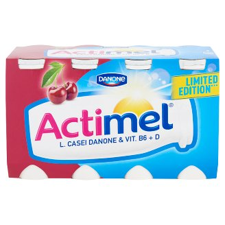 Danone Actimel Low-Fat Cherry-Acerola Flavoured Yoghurt Drink with Live Culture 8 x 100 g