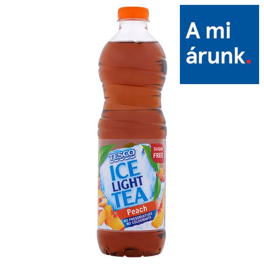Tesco Ice Tea Light Peach Flavoured Non-Carbonated Drink with Sweeteners 1,5 l