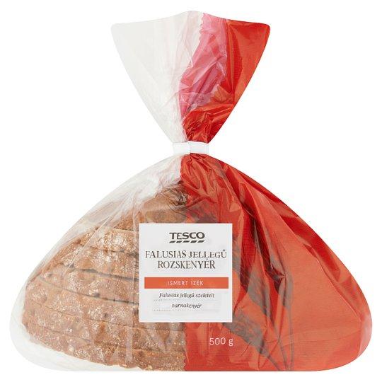 Tesco falusi jellegű szeletelt rozskenyér 500 g