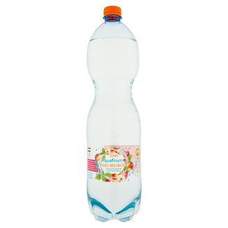 Tesco Aquafruct+ Mango-Mint-Apple Flavoured Carbonated Drink with Sweeteners 1,5 l