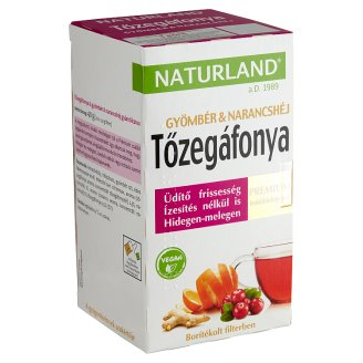 Naturland Premium Cranberry & Ginger & Orange Peel Fruit Tea 20 Tea Bags 40 g