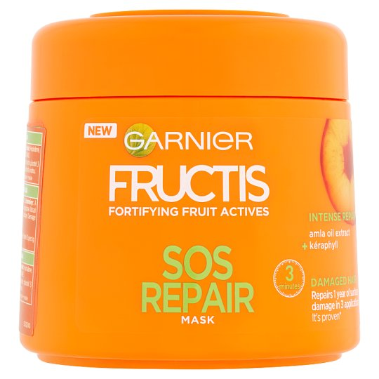 image 1 of Garnier Fructis SOS Repair Fortifying Hair Mask 300 ml