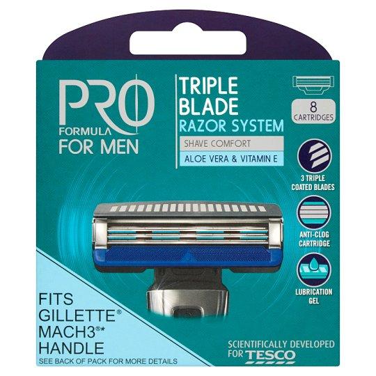 Tesco Pro Formula for Men Rightfit 3. hárompengés borotvafejek 8 db