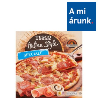 Tesco Italian Style Quick-Frozen Pizza with Cheese, Mushroom, Salami, Ham 320 g
