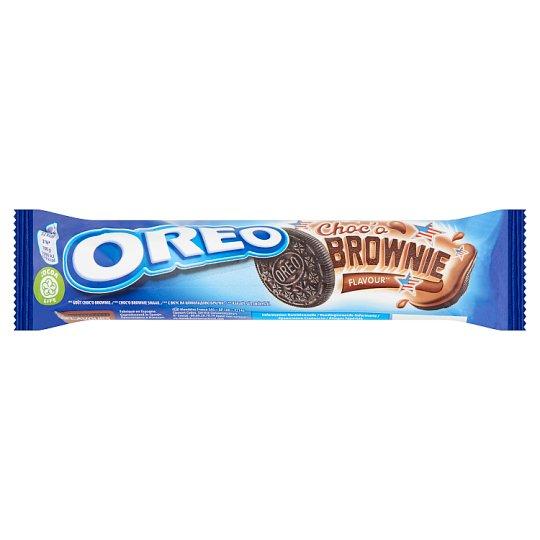 Oreo Choc'o Brownie kakaós töltelékkel töltött kakaós keksz 154 g