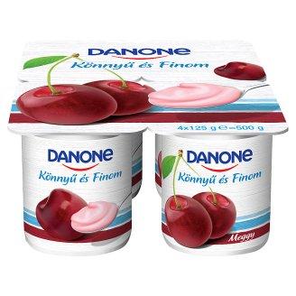 Danone Könnyű és Finom Sour Cherry Flavoured Low-Fat Yoghurt with Live Cultures 4 x 125 g