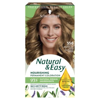 Schwarzkopf Natural & Easy 550 Satin Dark Blond Permanent Cream Hair Colorant